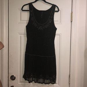 W118 by Walter Baker beaded flapper dress